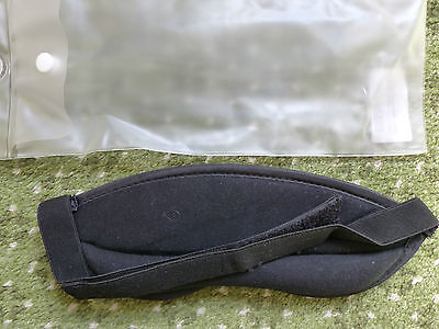 Luxury Sleeping Mask, NEW, well padded, in own pouch, with velcro head strap