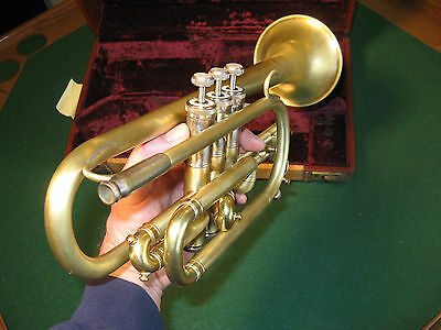 Rebuilt: Selmer Bundy Cornet 1965 Brushed Raw Brass - Local Collection -