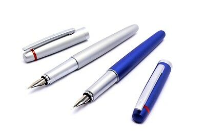 Rotring Freeway Fountain Pens Blue & Silver New But With Minor Crack On Cap
