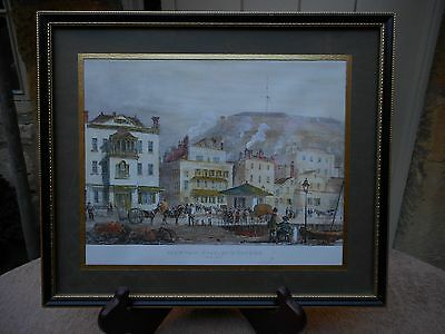 Pair of stunning antique coloured engravings of Jersey scenes - 19th Century