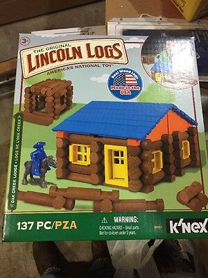LINCOLN LOGS  Oak Creek Lodge  137 Pieces  Ages 3+ Prescho... NEW Free Shipping