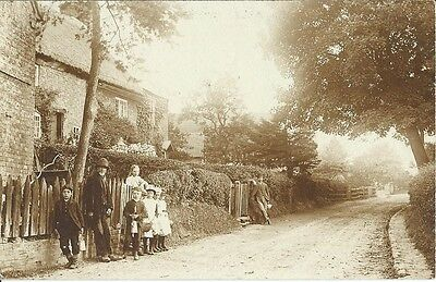 Social History, Unknown Village Street, Sepia Photo Postcard