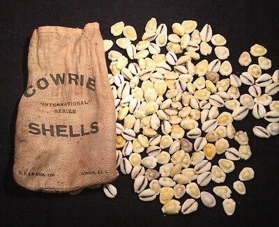 "Vintage Sack Of Cowrie Shells ""International Series"" - H.P.G & Sons - London"