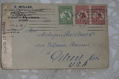 Australia Interesting Cover , used - lot e225