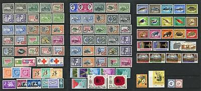 Br Guiana, Guyana QEII Mint Lot, about 90% are MNH 1953 onwards. Cat approx £200