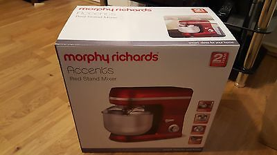 MORPHY RICHARDS ACCENTS 400010 RED FOOD MIXER 5L - Brand New!