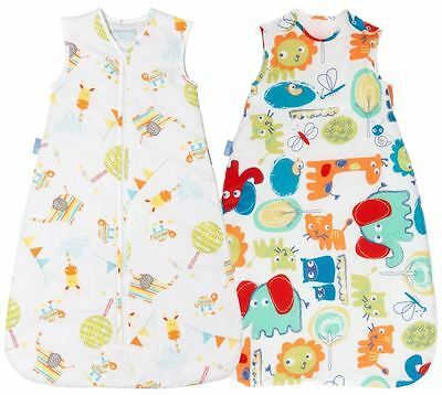 Grobag 2.5 tog TWIN PACK - Doodle Zoo + Lets Play 6-18 Months