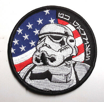 """Star Wars 3.25"""" USA Flag w Stormtrooper Promo Patch-Mailed from USA(EBPA-SW-USA)"""