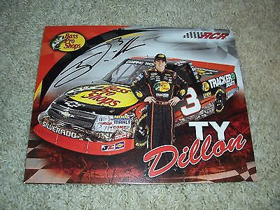 TY DILLON hero card  photo signed with COA Autographed