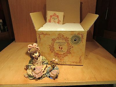 "Boyds Yesterdays' Child ""Alyssa with Caroline...A Stich In Time"" Collectible"