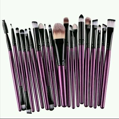 Set Pennelli Trucco Make Up Professionale 20 Pezzi Cosmetici di Bellezza