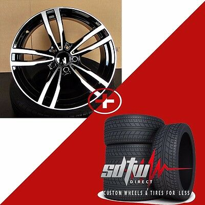 "18"" Wheels w Tires fits BMW 5 6 Series M6 Sport Style 437 Black Machined Rims"