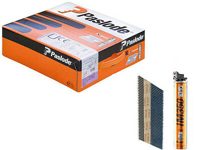 Paslode IM350 141227 3.1mm x 75mm Galv Ring Nails (2200 Per Box + 2 Fuel Cells)