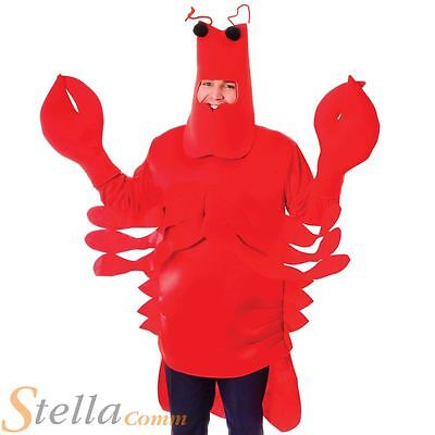 Adult Lobster Costume Mens Ladies Sea Crab Animal Fancy Dress Outfit