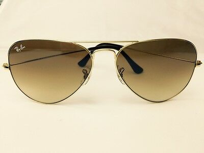 Ray Ban Aviator 3025 001-51 Brown Gradient Lens Gold Frame Size 58 mm RB3025 NEW