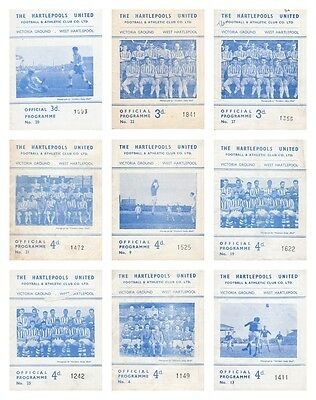 1961-67 HARTLEPOOLS UNITED HOME FOOTBALL PROGRAMMES - Your choice - FREE Postage