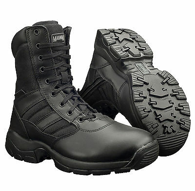 Magnum Panther 8.0 Side Zip Leather Combat Tactical Army Police Boots UK4-15