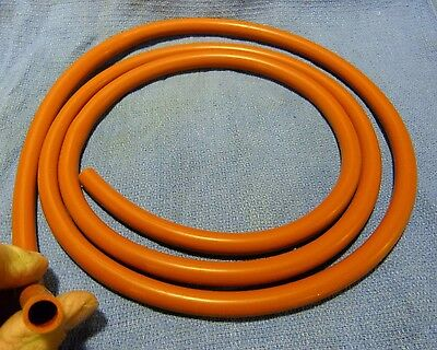 Vintage  Enema  Bag - Douche  Bag  New   Silicone Red  Hose  6-Ft. X 5/16-Th  Id