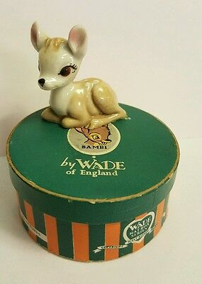 Wade Whimsie ~ Walt Disney Hat Box Series Bambi No 7~ Original Box