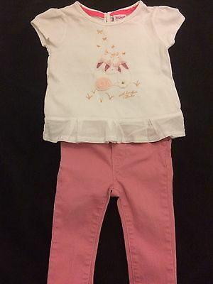 Gorgeous Ted Baker Top And Gap Trousers 6-9 Months Set