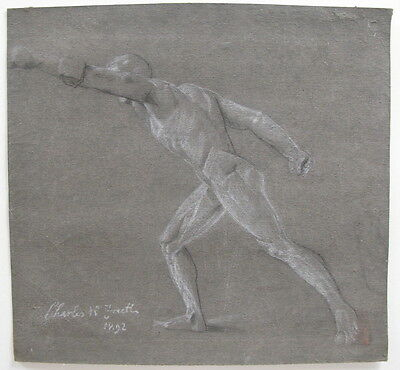 Antique Classical Drawing in Chalk/Conte