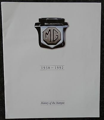 Mg Rv8  The History Of The Marque Brochure