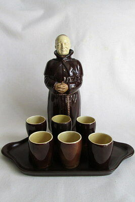 Vintage Beswick Heatmaster Monk Decanter + 6 x Shot Cups + Tray Set