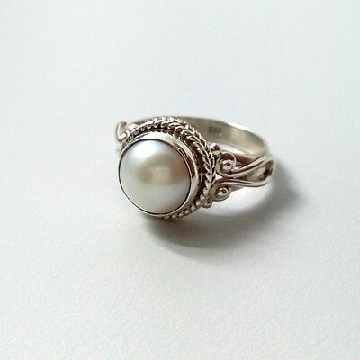 925 SOLID STERLING SILVER ORIGINAL SEA PEARL RING SIZE US 4 to 13