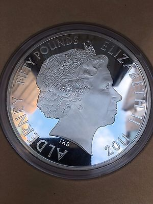 2011 Royal Wedding Proof 1 kilo solid silver Alderney £50 coin royal mint issue