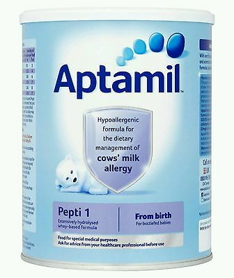 2 x tubs of Aptamil Pepti 1 From Birth Onwards 400g each sealed