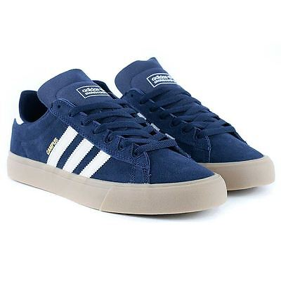 Adidas Skateboarding Campus Vulc II ADV Navy Gum Skate Shoes New Free Delivery
