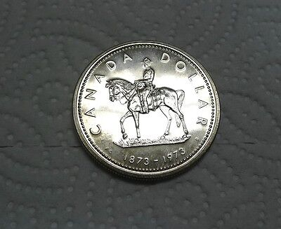 1973 Proof Silver Dollar CANADA! Mountie!  See Pics!