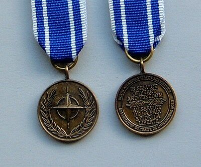 ONE Minature of the Nato MACEDONIA Medal