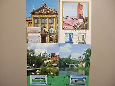 Seven CASTLE &other architecture Maxi cards
