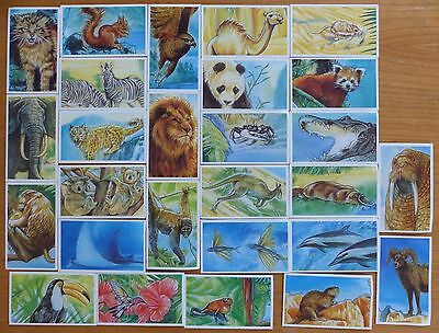 Going Wild Wildlife Survival Challenge - Brooke Bond Cards - Incomplete Set