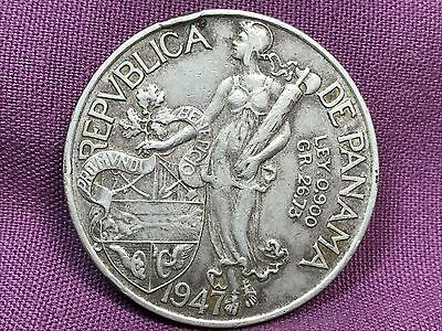 T2: World Coin Panama 1947 Balboa