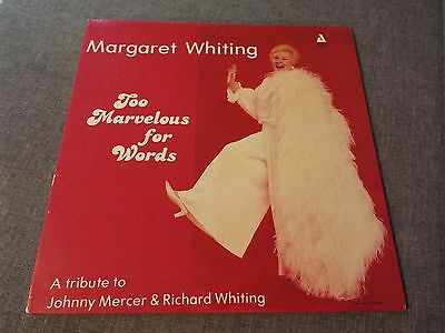 Margaret Whiting-Too Marvelous For Words-Usa Audiophile Diff Cover