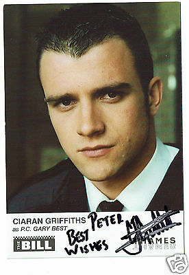 Ciaran Griffiths Actor The Bill - PC Gary Best   Hand Signed Photograph 6 x 4