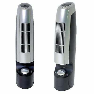 2 x Air Purifier & Ioniser Silent Cleanser Ionizer Filter Odors Smoke Clean Mold