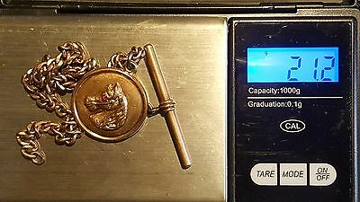 Vintage Horse W/Red Eye Pocket Watch Fob Pat. Apl'd For