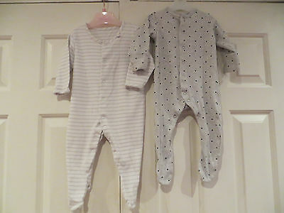 2 x babygrows for baby boy/girl age 3-6mths from Mothercare and M&S