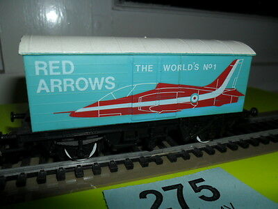 OO Gauge Hornby Red Arrows livery closed wagon