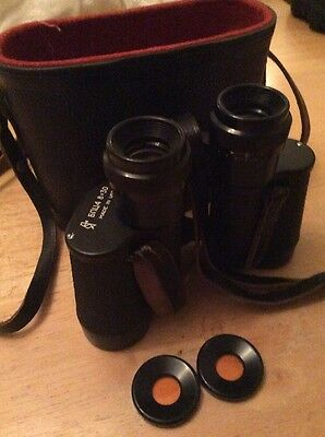"Vintage Russian Binoculars 8 X 30 ""made In USSR"" Plus Leather Case"
