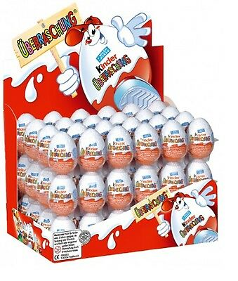 48 Eggs - Surprise Chocolate Egg with Toy Inside - 48x Kinder Überraschung