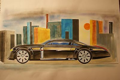 1990's Coupe concept sketch/Painting A2 (Auto art)