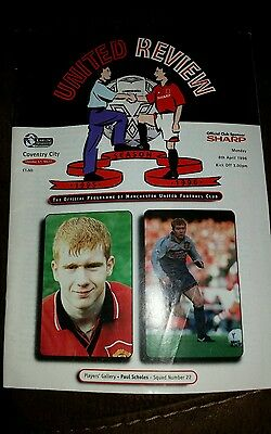 1995/96 PREMIERSHIP - MANCHESTER UNITED v COVENTRY CITY - 8 APRIL 1996