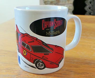 Vintage Captain Scarlet & the Mysterons Spectrum White Mug dated 1993 Unused