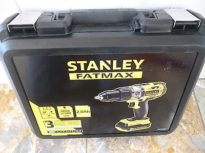 New Sealed Stanley Fatmax 18V Hammer Drill Driver 2 Batteries *3 Year G/tee*