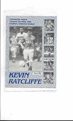 EVERTON v ATHLETIC BILBAO; KEVIN RATCLIFFE  TESTIMONIAL 1989