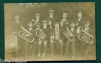 GRAMPOUND BAND, vintage postcard
